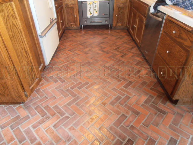 Interior Brick Floors Completely Stripped To Bare And Sealed With Medium  Shine Sealer.