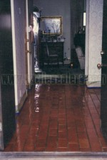 Interior brick floors acid washed, neutralized and sealer with masonry lacquer.