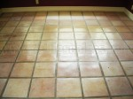 Whitewashed / stained Mexican Saltillo paver tiles.